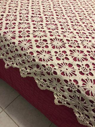 Colcha de crochet manta