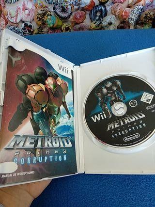 juego metroid prime 3 de Nintendo wii