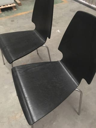 Silla negra Ikea Vilmar (disponibilidad 14 unds) de segunda