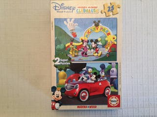 Juguete 2 puzzles wood Club Disney 26x18cm.