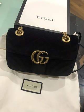 Gucci Marmont Velvet Mini Bag Black