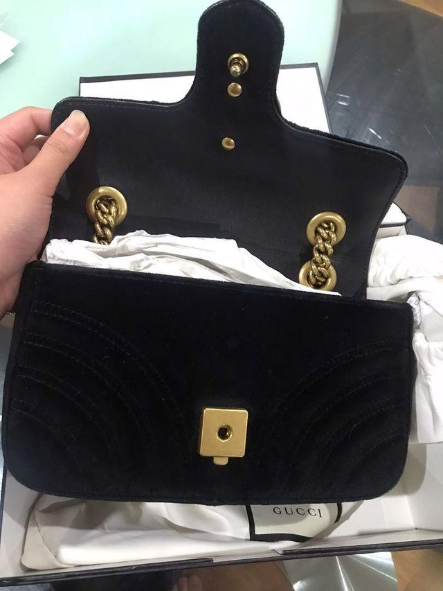 Gucci Marmont Velvet Mini Bag Black