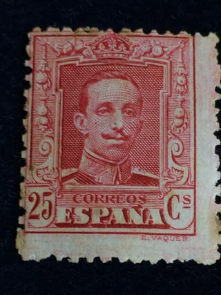 Sello 25 cts. Alfonso XIII