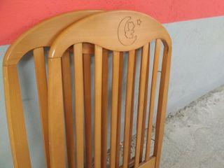 cuna de madera maciza