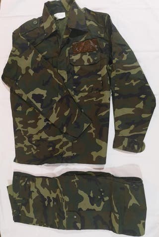 Uniforme militar bosque manga larga