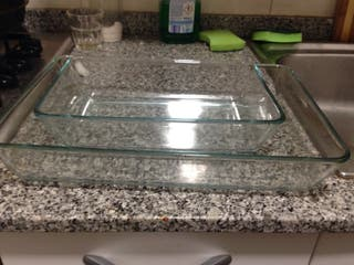 platos vidrio horno