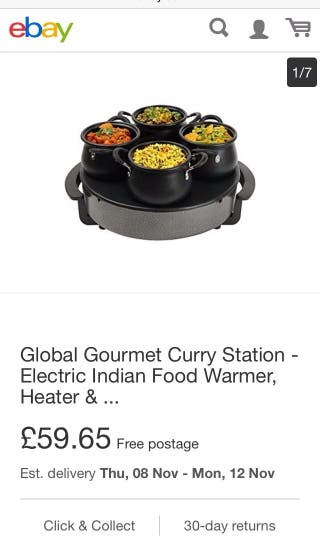 Indian curry station