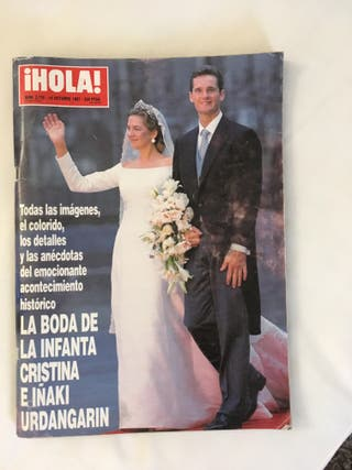 Revista HOLA Boda Cristina y Urdangarin