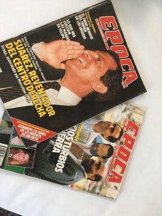 """Revistas """"Epoca"""" de 1988 y 1989"""