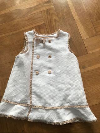 Vestido pique 12 meses