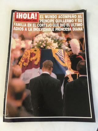 Revista HOLA entierro Diana de Gales