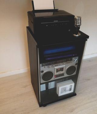 Mueble vinilos impresora almacenaje
