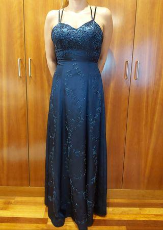 vestido de noche/cóctel chal a juego de pedrería