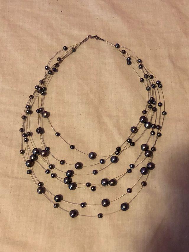 1b67999ffb98 URGE !! Collar perlas negras y plata 925 de segunda mano por 1 € en ...