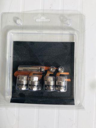 Válvulas de carga para coche invisibles