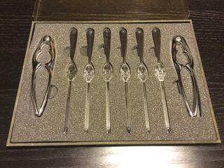 Set cubiertos piezas utensilios para marisco NUEVO