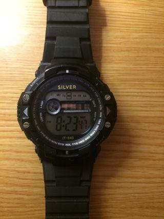 Reloj digital silver
