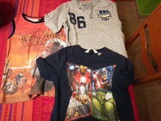 Camisetas niño vengadores, star wars