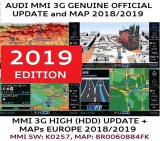 Nuevos Mapas 2018-2019 A4 A5 A6 A8 Q5 Q7 3G HIGH