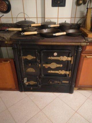 Cocina calefacción de leña