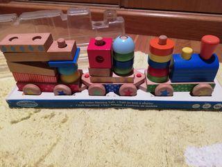 Tren Madera Imaginarium Encajable