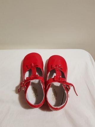 Botitas niña rojas