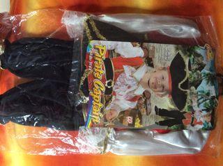 Disfraz de capitán pirata para niño 2 o 3 años