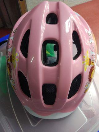 casco bicicleta niña