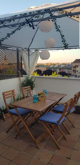Silla mesa terraza jardin de segunda mano por 16 en madrid en wallapop - Sillas terraza segunda mano ...