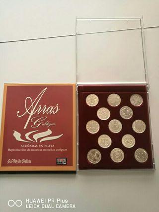 Arras en plata moneda GALLEGA
