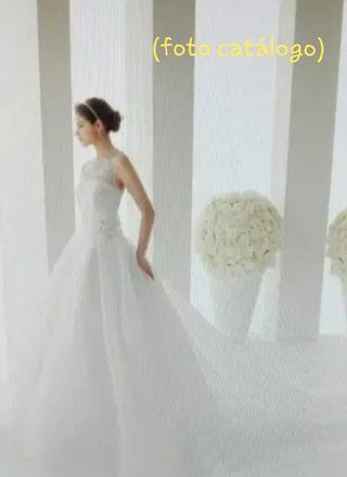 vestido de novia rosa clara de segunda mano en alicante en wallapop