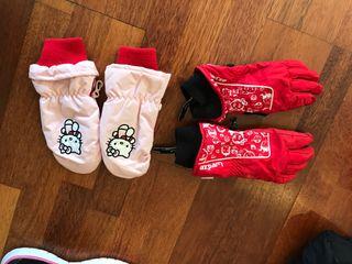 Conjunto guantes esquí niño niña