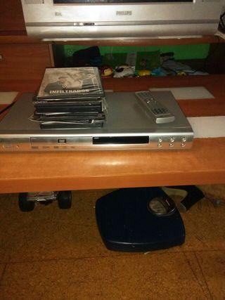 dvd con mando y peliculas