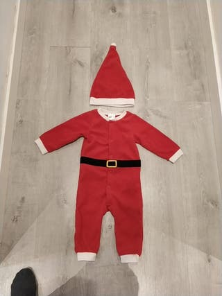 disfraz pijama papa noel 6-9 m
