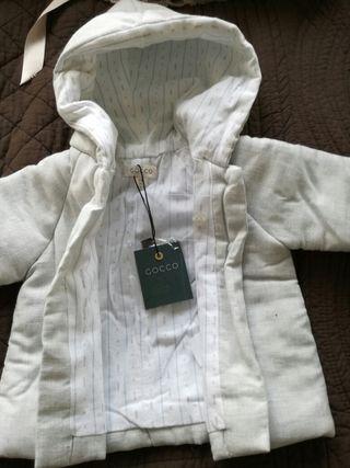 chaqueta bebé 1-3 meses Gocco
