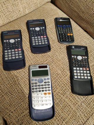 Lote de calculadoras cientificas