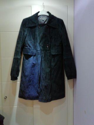 abrigo ante azul marino talla l stradivarius