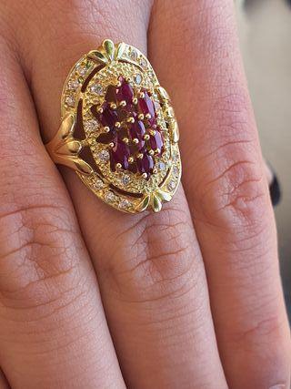 anillos de lanzadera en oro