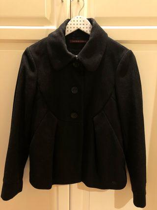Abrigo lana negro Comptoir des Cotonniers