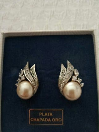 Pendientes perlas