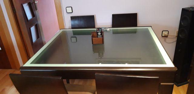 Mesa de comedor color wengue de segunda mano por 250 € en Valencia ...
