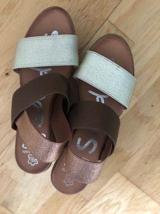 Sandalia piel nueva
