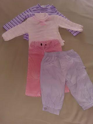 Conjunto 2 camisetas pantalón pana niña 12 meses 1