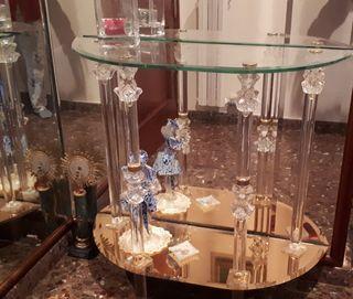entrada de cristal y metacrilato