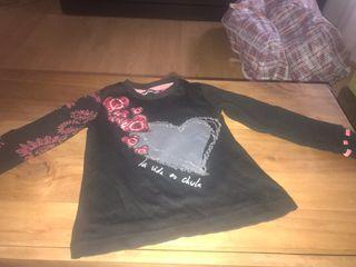 Camiseta desigual niña