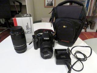 Cámara Reflex Canon EOS 550D + Objetivo 75-300mm