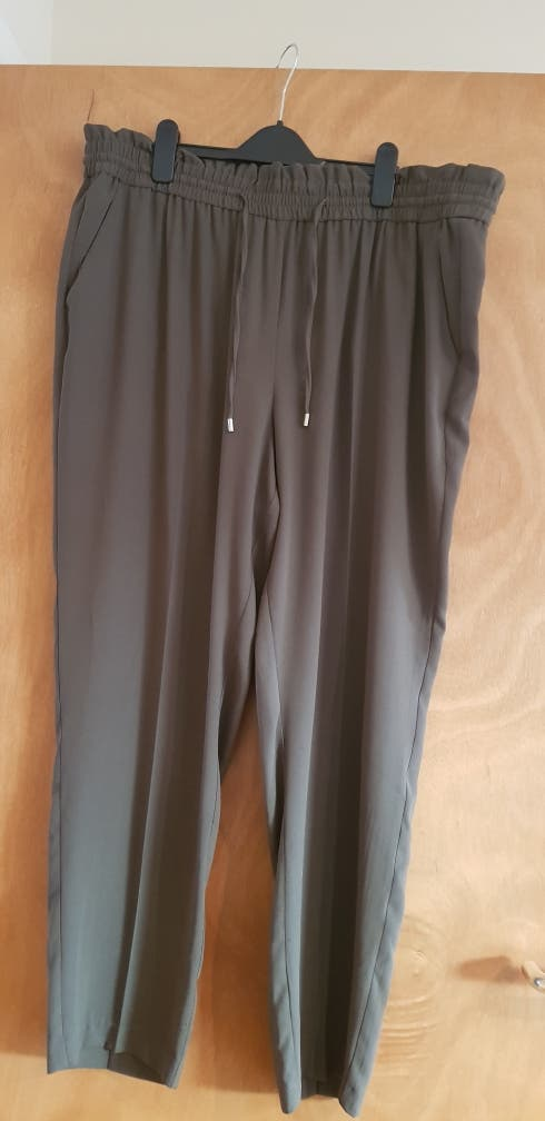 Khaki green trousers size 20