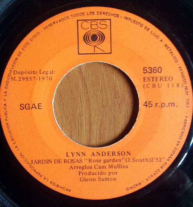 Sg Lynn Anderson Jardin De Rosas 1970 De Segunda Mano Por 4 En Mislata En Wallapop