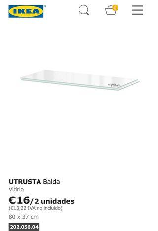 Balda UTRUSTRA cristal ikea 80x37