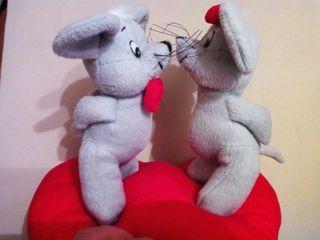 Juguete de peluche pareja ratones